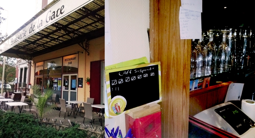 Café suspendu à la Brasserie de laGare